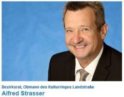Alfred Strasser - Bezirksrat, Obmann des Kulturringes Landstraße