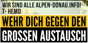 Schriftvergleich: oben v. alpen-Donau.info - unten von einem Flyer der Identitären