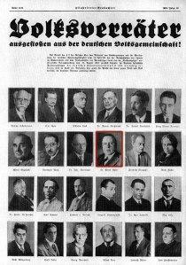 """""""Volksverräter ausgestoßen aus der deutschen Volksgemeinschaft!"""" - 1933"""
