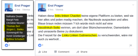 Erol Prager Posting u Likes