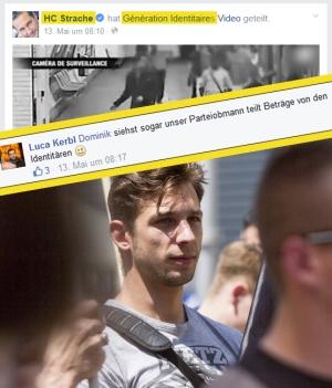 Strache und Luca Kerbl