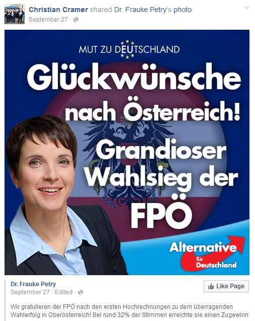Cramer Christian -kornblumenträger AfD Frauke Petry