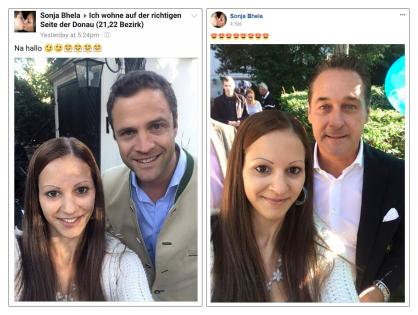 Sonja Bhela mit Gudenus und Strache_4.9.2017